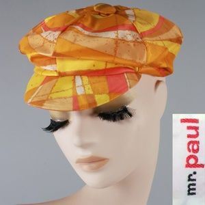 Vintage 60s Psychedelic Newsboy Hat
